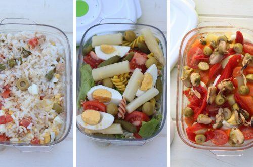 Receta de 3 ensaladas completas para llevar en tupper