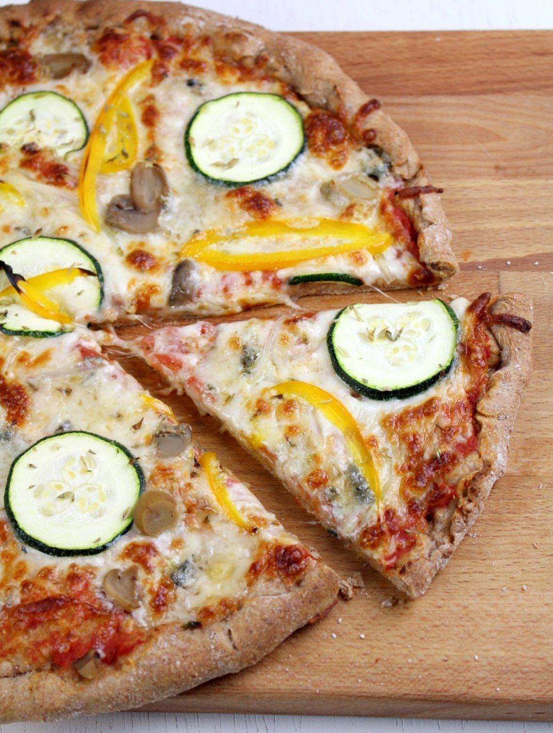 Receta de masa de pizza 100% integral