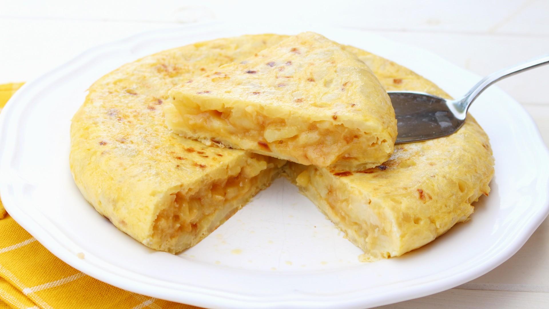 Receta de tortilla de patata light