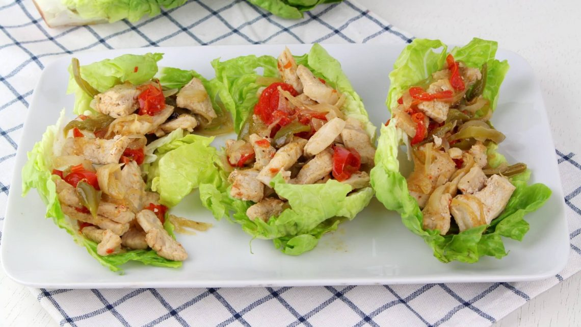 Receta de tacos de lechuga con cerdo picante